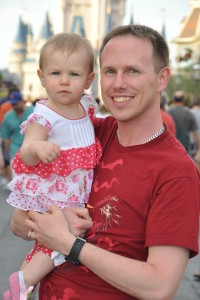 Bob and Rosie at Disney World on Rosie's First Birthday